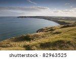 View on Swanage Bay, Dorset, England, UK - stock photo