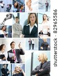 business collage made of many... | Shutterstock . vector #82965586
