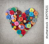 Colorful Buttons Heart On...
