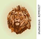 lion vector | Shutterstock .eps vector #82990327