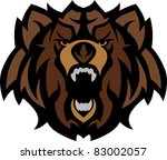 bear grizzly mascot head graphic | Shutterstock .eps vector #83002057