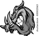 animal,boar,cartoon,face,head,high school,hog,icon,illustration,image,mascot,pig,razorback,school,sport