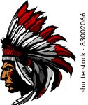 indian chief head graphic | Shutterstock .eps vector #83002066