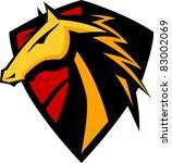 mustang stallion graphic mascot ... | Shutterstock .eps vector #83002069