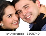 couple of young people portrait ... | Shutterstock . vector #8300740