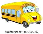 cartoon school bus | Shutterstock .eps vector #83010226