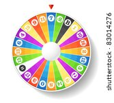 wheel of fortune. vector. | Shutterstock .eps vector #83014276
