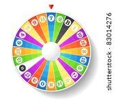 wheel of fortune. vector. | Shutterstock .eps vector #83014276