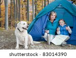 autumn camping   family with... | Shutterstock . vector #83014390