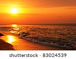 Romantic View Of The Sunrise O...