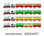 collection of trains ... | Shutterstock .eps vector #83026597