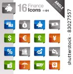angle stickers   finance icons | Shutterstock .eps vector #83027557