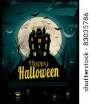 halloween poster with place for ... | Shutterstock .eps vector #83035786
