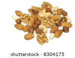 pile of mixed shelled nuts... | Shutterstock . vector #8304175
