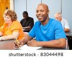 portrait of a handsome african... | Shutterstock . vector #83044498