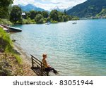 beautiful summer alpine  lake... | Shutterstock . vector #83051944