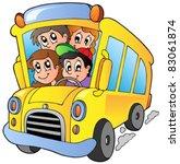 school bus with happy children  ...   Shutterstock .eps vector #83061874