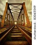 old railroad bridge | Shutterstock . vector #83065549