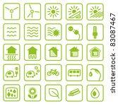icon set green energy | Shutterstock .eps vector #83087467