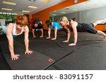 pilates class at a gym | Shutterstock . vector #83091157