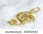 Gold Treble Clef Isolated On...