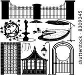 home garden objects 1 | Shutterstock .eps vector #8309245