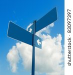 blank blue road signs in bright ... | Shutterstock . vector #83097397