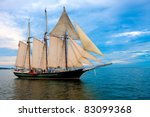 Old Fashion Sail Boat Near...