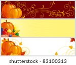three color banners with... | Shutterstock .eps vector #83100313