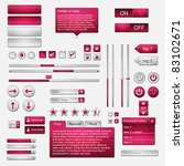 set of web elements   vector...