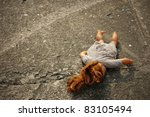 Abandoned Dirty Toy Doll