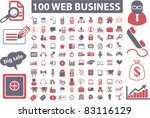 100 web business set icons ... | Shutterstock .eps vector #83116129