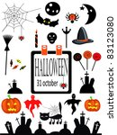 halloween icons | Shutterstock . vector #83123080