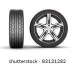 image sport wheels with alloy... | Shutterstock . vector #83131282