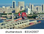 Port Island in Kobe, Japan. - stock photo