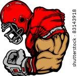 football player lineman cartoon | Shutterstock .eps vector #83143918