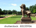 Landscape of Angkor Thom, Siem Reap, Cambodia - stock photo