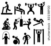 athletic,ball,barbell,bench,black,body,boxing,building,cartoon,cycling,dumbbells,equipment,exercise,fitness,graphic