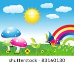 abstract nature background eco... | Shutterstock .eps vector #83160130
