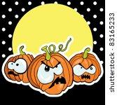vector halloween pumpkin | Shutterstock .eps vector #83165233