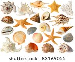 Isolated Sea Objects. Large...