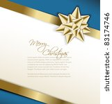 vector golden bow on a ribbon... | Shutterstock .eps vector #83174746