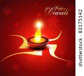 beautiful diwali vector... | Shutterstock .eps vector #83175142