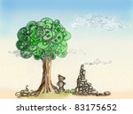 landscape with a sad teddy... | Shutterstock . vector #83175652