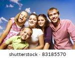 happy big family   Shutterstock . vector #83185570
