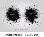 ink splat overlayed by halftone ... | Shutterstock .eps vector #83192155