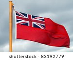Red Ensign Flag On Ship