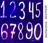 neon numbers | Shutterstock .eps vector #83195659