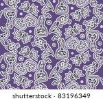 halloween seamless doodles... | Shutterstock .eps vector #83196349