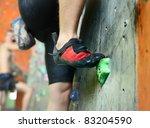 Young Man's Foot Climbing...